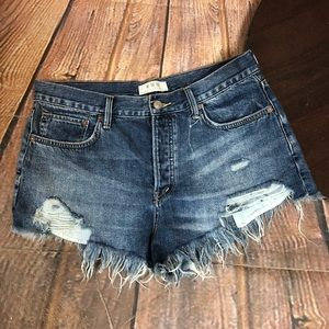 We The Free People Jean Shorts Distressed 30